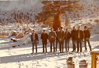 PCT crew, Chicken Spring Lake, 1972 1
