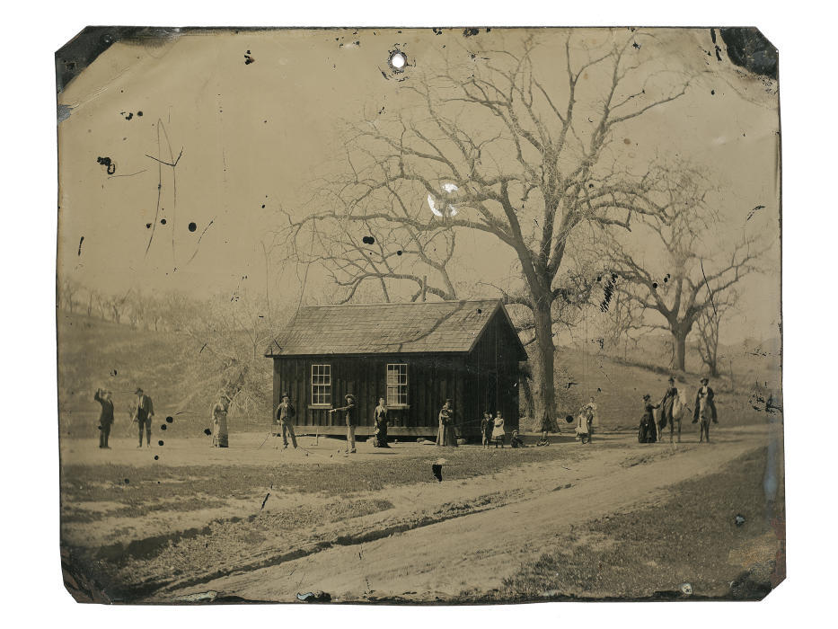 New Billy the Kid photo. The 45 inch tintype not only depicts Billy the Kid, but several members of his gang, The Regulators, playing a leisurely game of croquet alongside friends, family, and lovers in the late summer of 1878. This is the full tintype. (Courtesy of Kagins) mpetroski@abqjournal.com Wed Oct 14 16:57:09 -0600 2015 1444863426 FILENAME: 200793.jpg