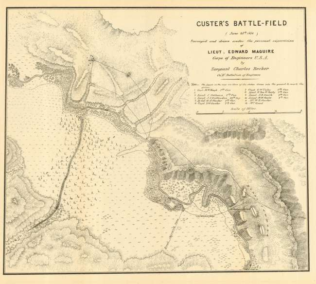 Custer battlefied- BeckerMap
